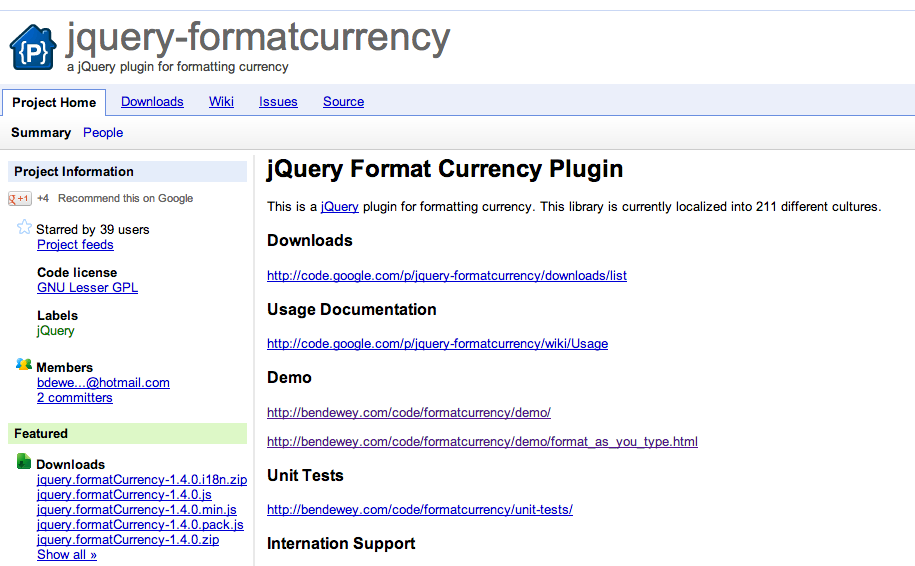 Currency Format with jquery-formatcurrency | AREYES