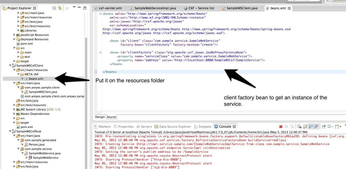 Apache cxf jax ws simple tutorial 3rd we create the client app baditri Gallery